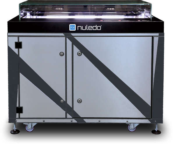 Front side view of Nuledo Unica cloud chamber.